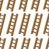 Cartoon Ladder Seamless Pattern Royalty Free Stock Photo