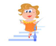 Cartoon lady  - vectorial illustration Royalty Free Stock Photo