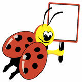Cartoon ladybird Stock Images