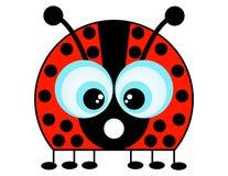 A Cartoon Ladybug. Isolated on White royalty free illustration