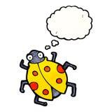 Cartoon ladybug Stock Photography