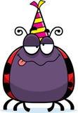 Cartoon Ladybug Drunk Party Stock Photography