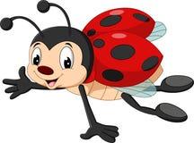 Cartoon ladybug flying. Illustration of Cartoon ladybug flying royalty free illustration