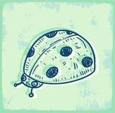 Cartoon ladybug illustration , vector icon Royalty Free Stock Photos
