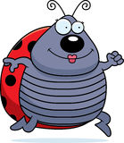 Cartoon Ladybug Running Stock Images