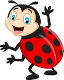 Cartoon ladybug waving Royalty Free Stock Photography