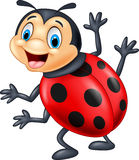 Cartoon ladybug waving Stock Photos