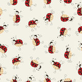 Cartoon ladybugs dancing Stock Photos