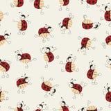 Cartoon ladybugs dancing Stock Photos