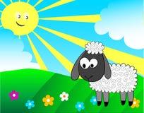 Cartoon lamb Royalty Free Stock Images