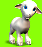 Cartoon lamb. A cute lamb with blue eyes Royalty Free Stock Photography