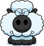 Cartoon Lamb Angry. A cartoon illustration of a lamb with an angry expression royalty free illustration
