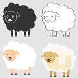 Cartoon lamb. Flat design, illustration vector illustration