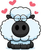 Cartoon Lamb Love Royalty Free Stock Photography