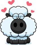 Cartoon Lamb Love Royalty Free Stock Photography
