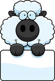 Cartoon Lamb Sign Royalty Free Stock Image