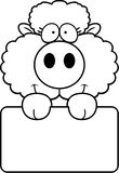 Cartoon Lamb Sign Stock Photography