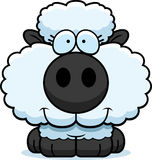 Cartoon Lamb Smiling Royalty Free Stock Photo