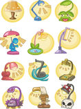 Cartoon Lamps icon. Vector drawing Stock Photos
