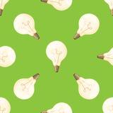 Cartoon lamps light bulb seamless pattern background design vector illustration electric icon object brainstorm symbol Stock Photo
