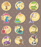 Cartoon Lamps stickers Royalty Free Stock Image
