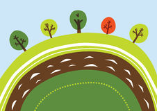 Cartoon landscape vector illustration