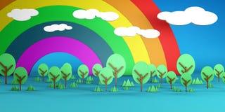 Cartoon Landscape royalty free stock images