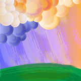 Cartoon landscape Royalty Free Stock Photo