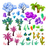 Cartoon Landscape Elements Collection Royalty Free Stock Photo