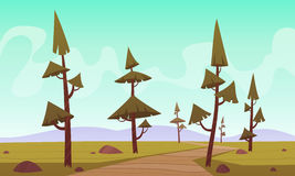 Cartoon Landscape Royalty Free Stock Images