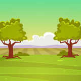 Cartoon Landscape Stock Images