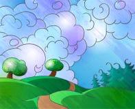 Cartoon landscape Royalty Free Stock Photos