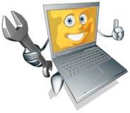 Cartoon laptop Stock Photo