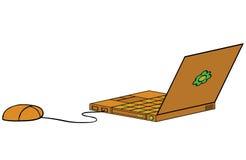 Cartoon Laptop Royalty Free Stock Photography
