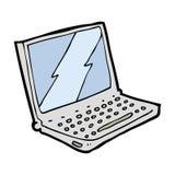 Cartoon laptop computer Stock Images