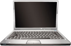 Cartoon laptop Stock Photography