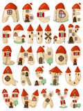Cartoon latin alphabet consists of houses Royalty Free Stock Images