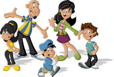 Cartoon latin family. Latinamericans. Stock Photos