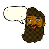 cartoon laughing bearded man with speech bubble Royalty Free Stock Image