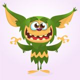 Cartoon laughing green monster. Vector illustration of green monster . Halloween design. Cartoon laughing green monster. Vector illustration of green monster vector illustration