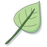 Cartoon leaf Royalty Free Stock Image