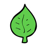 cartoon leaf symbol Stock Image