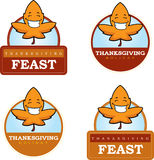 Cartoon Leaf Thanksgiving Graphic Royalty Free Stock Image