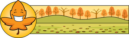 Cartoon Leaf Thanksgiving Graphic Stock Photography