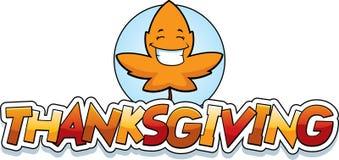 Cartoon Leaf Thanksgiving Graphic Stock Image
