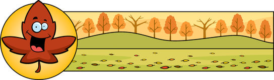 Cartoon Leaf Thanksgiving Graphic Royalty Free Stock Images