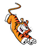 Cartoon leaping tiger Stock Photography