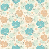 Cartoon leaves and flowers Royalty Free Stock Photography