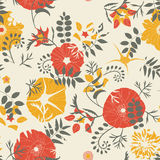 Cartoon leaves and flowers Royalty Free Stock Photos