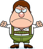 Cartoon Lederhosen Boy Angry Stock Image